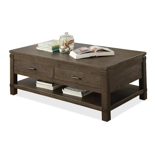 Riverside Furniture Promenade  Rectangular Cocktail Table with 2 Drawers