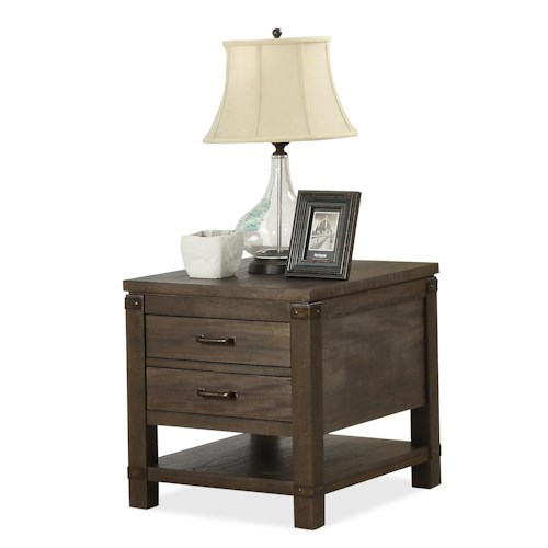 Riverside Furniture Promenade  Rectangular End Table with 2 Drawers