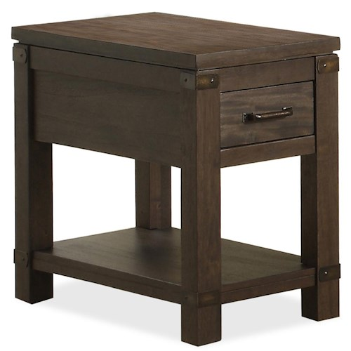 Riverside Furniture Promenade  Chairside Table with 1 Drawer