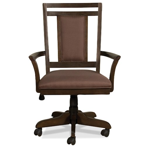 Riverside Furniture Promenade  Upholstered Swivel Desk Chair with Casters