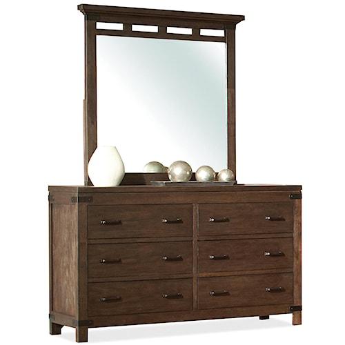 Riverside Furniture Promenade  6 Drawer Dresser & Mirror Set