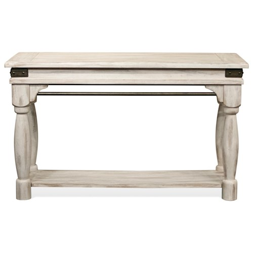 Riverside Furniture Regan Sofa Table with Metal Accents
