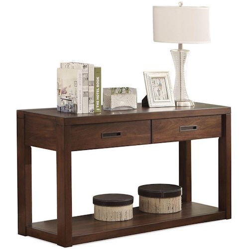 Riverside Furniture Riata Contemporary 2-Drawer Console Table
