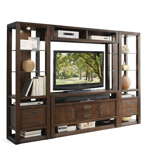 Riverside Furniture Riata Contemporary Entertainment Wall Unit