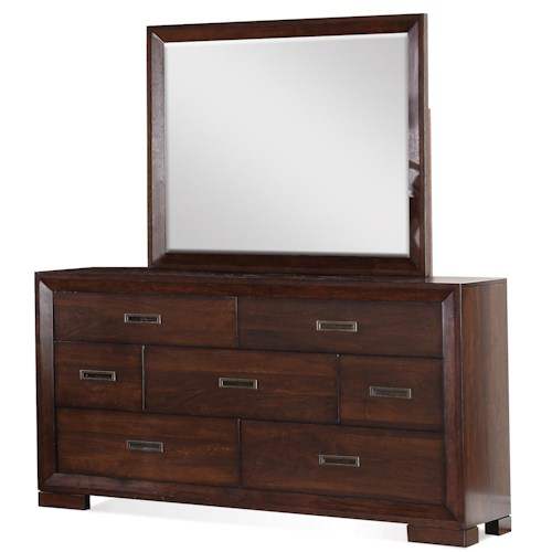 Riverside Furniture Riata 7-Drawer Dresser & Mirror Set