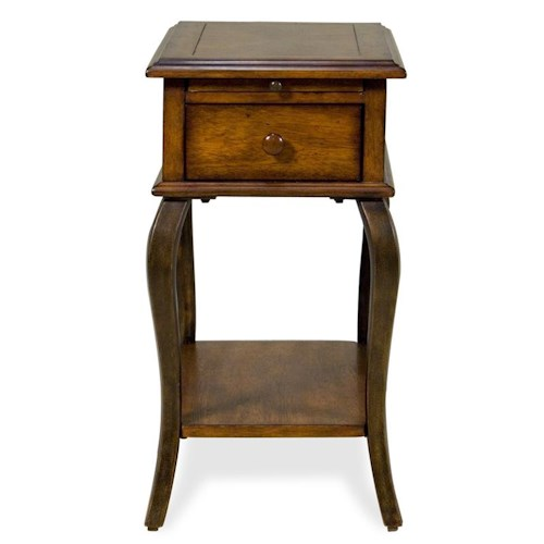 Riverside Furniture Serena  Chairside End Table with Cabriole Legs