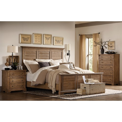 Riverside Furniture Sherborne King Bedroom Group 1