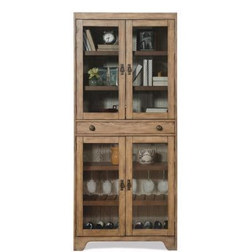 Riverside Furniture Sherborne Bunching Cabinet w/ Mesh Metal Grille