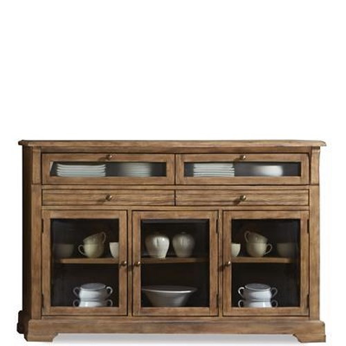 Riverside Furniture Sherborne Farmhouse Server w/ Glass Doors