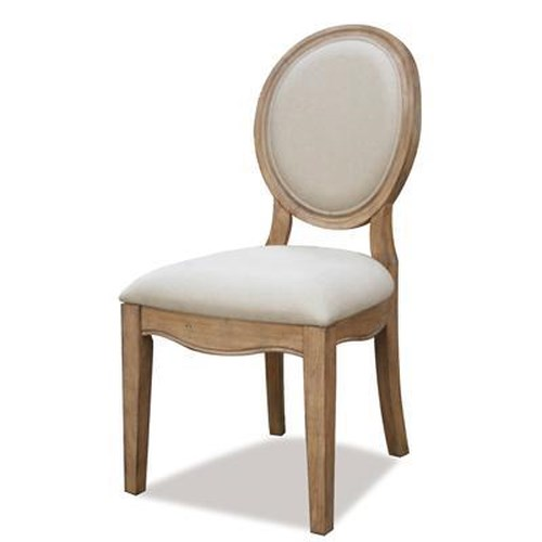 Riverside Furniture Sherborne Oval Back Upholstered Side Chair