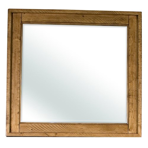 Riverside Furniture Summer Hill Landscape Mirror with Beveled Edge