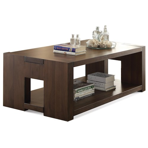 Riverside Furniture Terra Vista Modern Rectangular Coffee Table