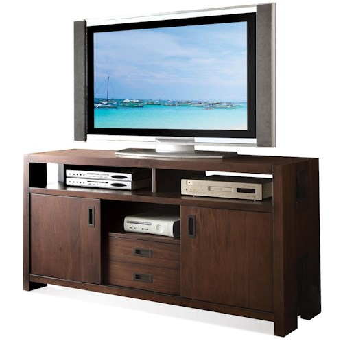 Riverside Furniture Terra Vista TV Console w/ Sliding Doors