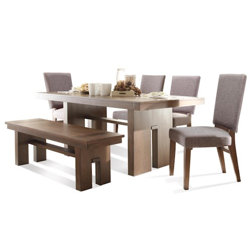 Riverside Furniture Terra Vista 6 PC Table & Chair Set w/ Bench