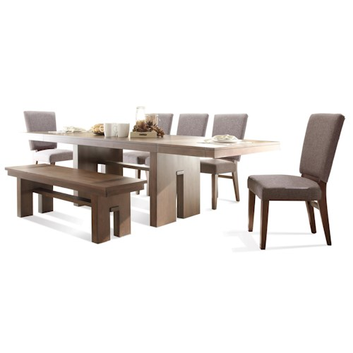 Riverside Furniture Terra Vista 7 PC Table & Chair Set w/ Bench