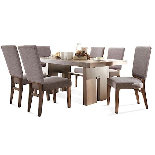 Riverside Furniture Terra Vista 7 PC Table & Chair Set