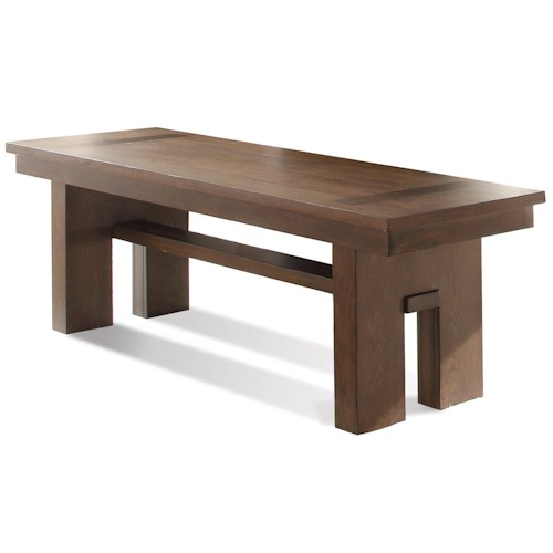 Riverside Furniture Terra Vista Contemporary Dining Bench