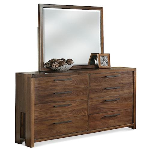 Riverside Furniture Terra Vista Eight Drawer Dresser & Mirror Set