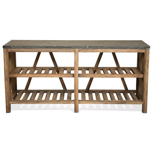 Riverside Furniture Weatherford Sofa Table w/ Shelves