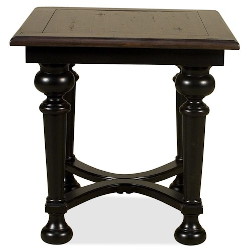 Riverside Furniture Williamsport Rectangular End Table with Turned Legs