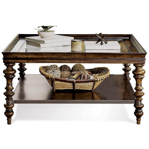 Riverside Furniture Windermier Square Coffee Table w/ Self