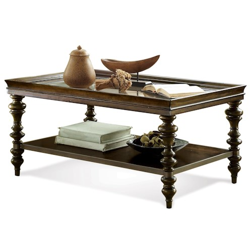 Riverside Furniture Windermier Rectangular Coffee Table w/ Shelf