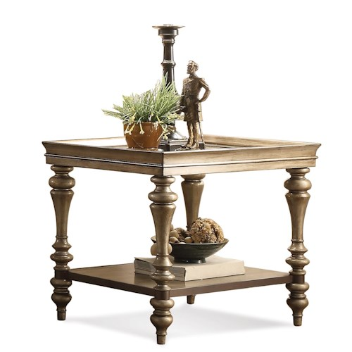 Riverside Furniture Windermier Turned Leg Side Table