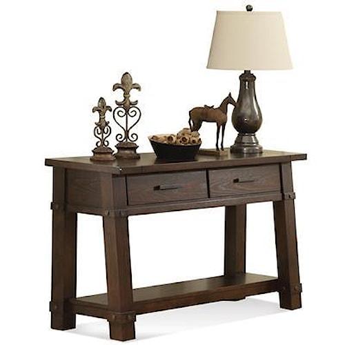 Riverside Furniture Windridge  ANGLE-LEG CONSOLE TABLE