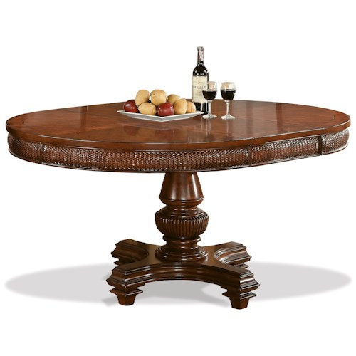 Riverside Furniture Windward Bay Round Dining Table with 18