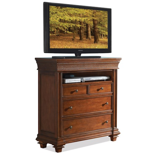 Riverside Furniture Windward Bay Media Chest w/ Hidden Drawer