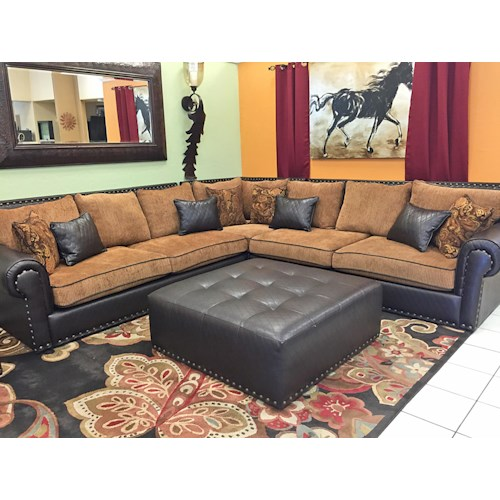 Del Sol Exclusive Regency Regency 3pc Sectional