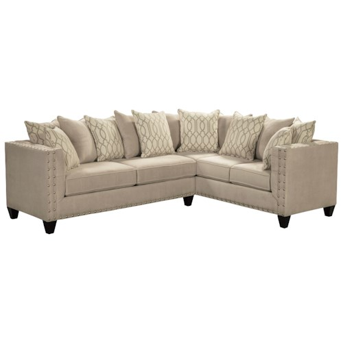 Del Sol Exclusive Roxanne by Robert Michael Upholstered Sectional Sofa with Track Arms