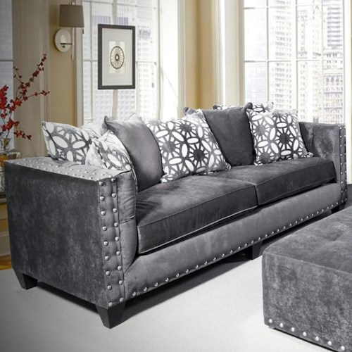 Del Sol Exclusive Roxanne by Robert Michael Upholstered Sofa with Track Arms