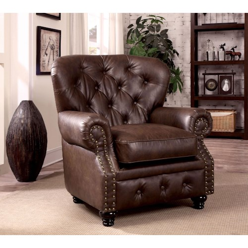 Furniture of America / Import Direct Stanford Stanford brown Leather Chair