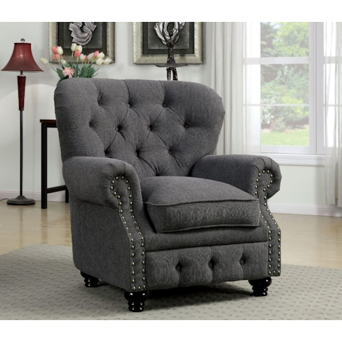 Furniture of America / Import Direct Stanford Stanford Gray Chair