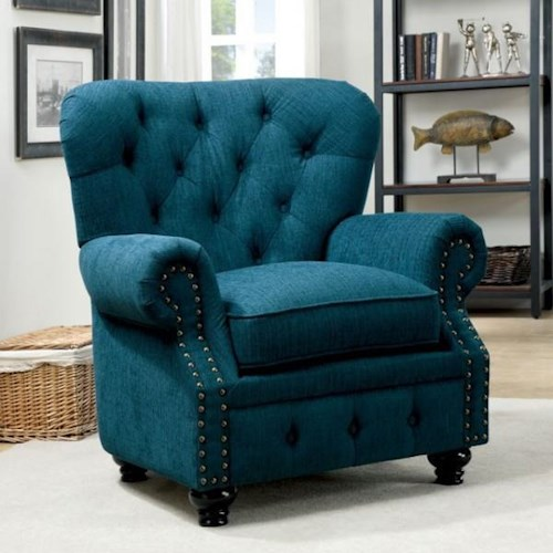 Furniture of America / Import Direct Stanford Stanford Teal Chair