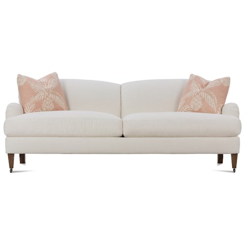 Robin Bruce Brampton Traditional Sofa with Rolled Arms and Casters