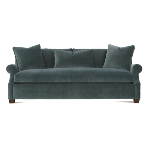 Robin Bruce Bristol Contemporary 85'' Sofa with Bench Cushion
