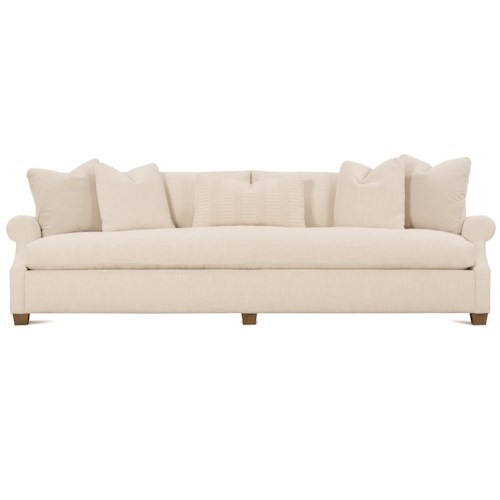 Robin Bruce Bristol Contemporary 110'' Sofa with Bench Cushion