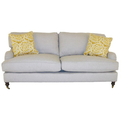 Robin Bruce Brooke Sofa with Castered Turned Feet