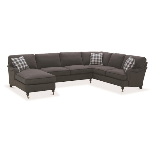 Robin Bruce Brooke Sectional Sofa with Castered Turned