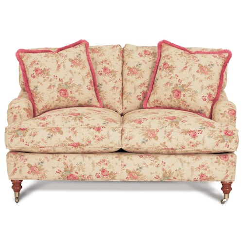 Robin Bruce Brooke Loveseat with Castered Turned Feet
