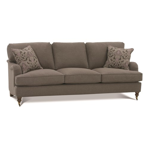 Robin Bruce Brooke 3-Cushion Sofa with Castered Turned Feet