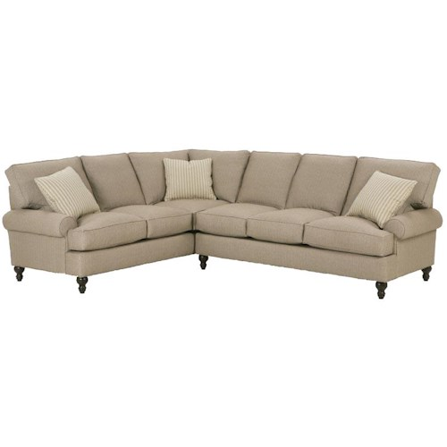 Sofa You Love Thousand Oaks: Robin Bruce Cindy Corner Sectional Sofa With Round Arms