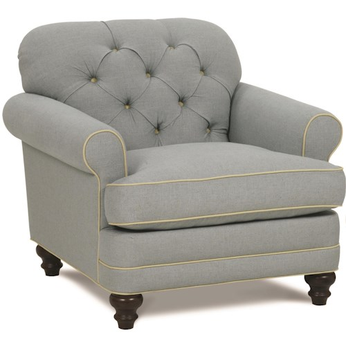 Robin Bruce Donovan Traditional Chair with Tufted Back