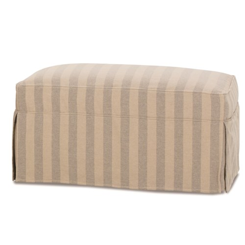 Robin Bruce Havens Casual Ottoman with Slipcover