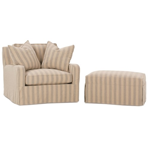 Robin Bruce Havens Casual Chair and Ottoman Set