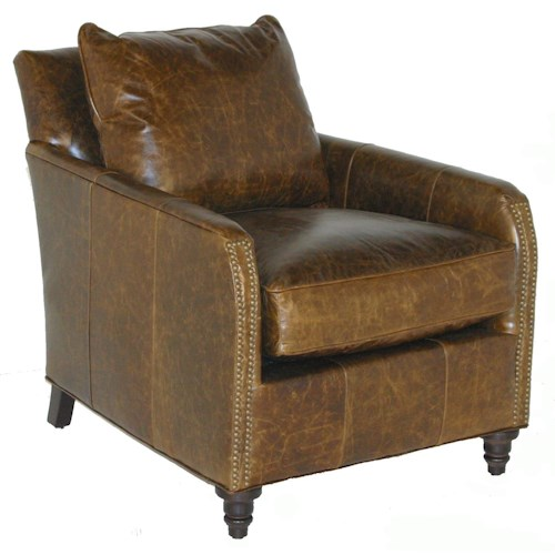 Robin Bruce Hayes Transitional Arm Chair with Nail Head Trim