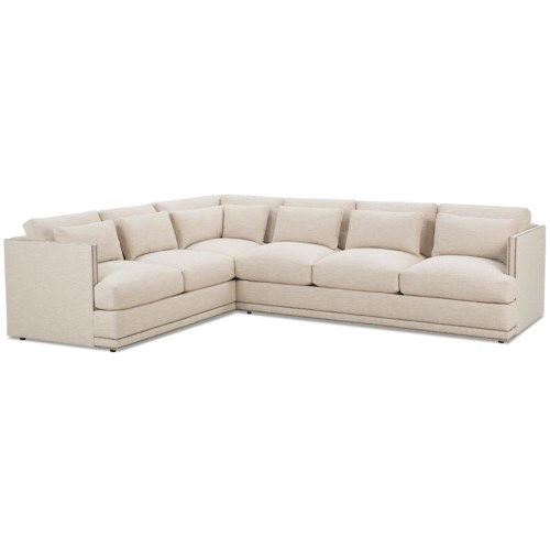 RB by Rowe Oscar Contemporary Sectional Sofa Group