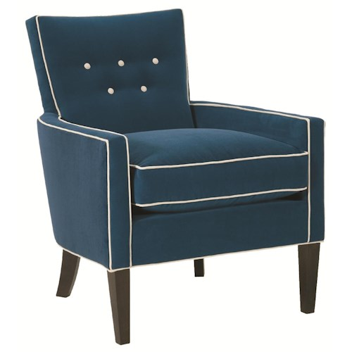 Robin Bruce Accent Chairs Boyd Accent Chair with Track Arms and Button Tufted Seat Back